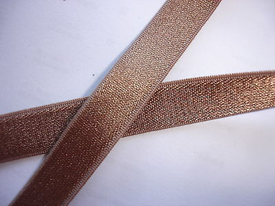 10m Gummiband 0,23€/m goldbraun 10mm breit Trägerband  MB27.1