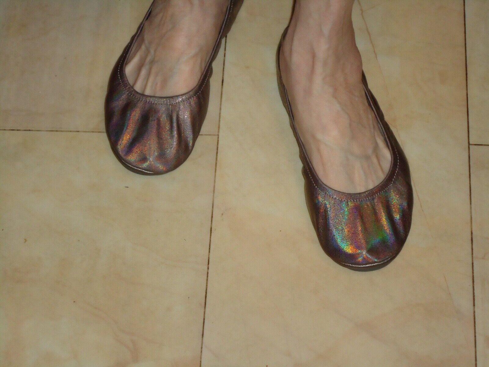 rainbow bronze bendable shoes size 9