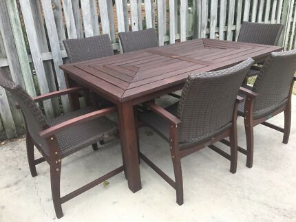 Nullabor Wicker Dining Outdoor Setting