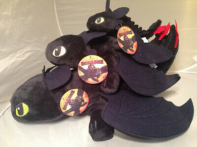 Toothless Nightfury (How to Train Your Dragon Toothless Plush Soft Toy Night Fury Doll up to 20)