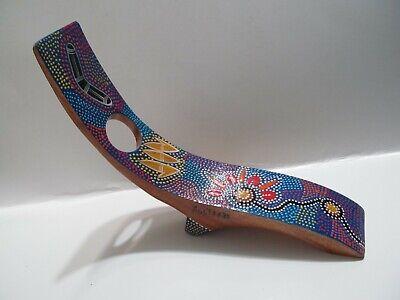 Birubi Art Hand Painted Wooden Wine Bottle Holder Australia FREE SHIPPING