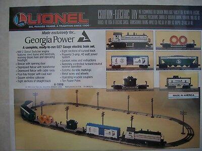 Lionel  11819 Georgia Power Train Set   Ready To Run