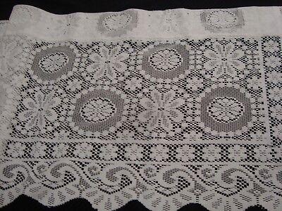 nip one lace crochet valance rochelle scalloped