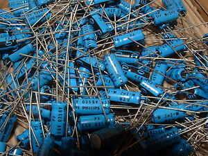 1000-x-PHILIPS-2-2uf-63v-Radial-Electrolitico-Condensador-2222-035-58228