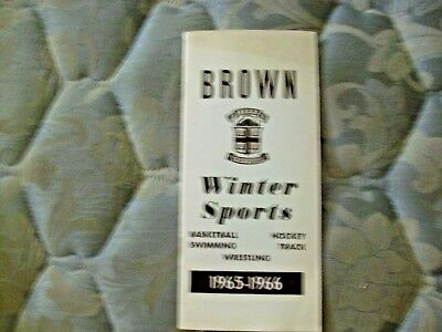 1965 66 Brown Hockey Media Guide Yearbook Basketball Swimming Track Wrestling Ad