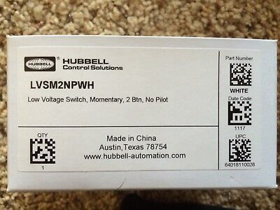 Low-voltage-switch (LVSM2NPWH Low Voltage Switch, Momentary, 2 Btn, No Pilot)