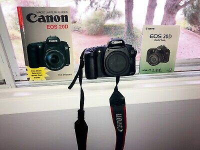 Canon EOS 20D 8.2 MP Digital SLR Camera - Black (Body Only) w strap and SD card