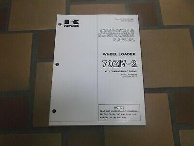 Kawasaki 70ziv-2 Wheel Loader Owner Operator User Guide Maintenance Manual