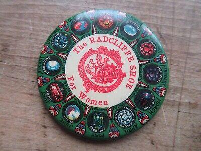 Vintage Advertising RADCLIFFE SHOES FOR WOMEN Calendar Pocket Mirror