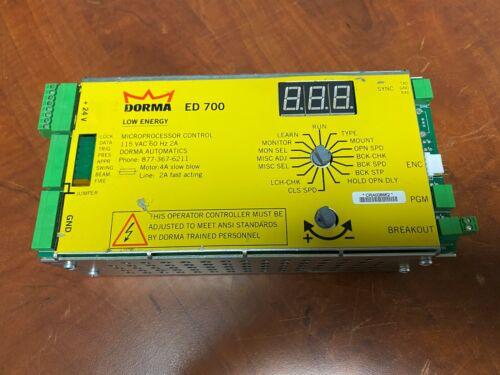 Dorma ED700 Microprocessor Control