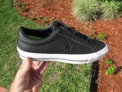 CONVERSE ONE STAR LEATHER OX BLACK  SIZE 10  NEW IN BOX 153714C
