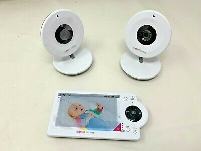 "Project Nursery 4.3"" LCD Baby Monitor w/Two Cameras Open Box MD:PNM4N12"