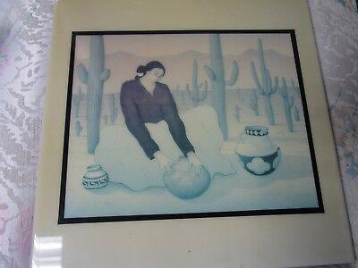 """RC Gorman Ceramic Art Tile Southwest Gift 12 X 12"""""""