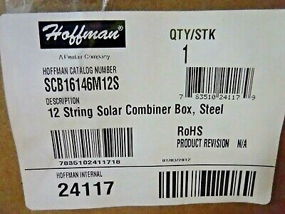 Hoffman Scb16146m12s Steel 12 String Solar Combiner Box New