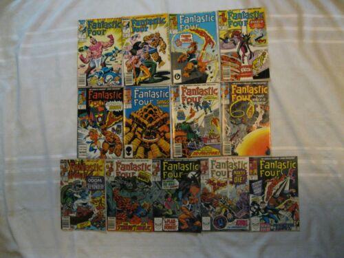 Thirteen Fantastic Four Marvel Comics  298-326 1987-89