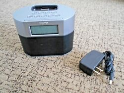 IHOME IP23 IPHONE IPOD 30-PIN DOCKING STATION CLOCK DUAL ALARM EXPANDED EXB BASS