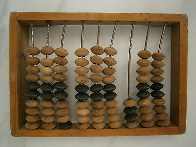 Vintage Russian Counting Frame Carved Wooden Abacus Beads Soviet Merchant USSR for sale  Shipping to United States