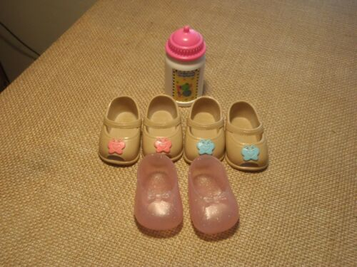 Fisher Price Little Mommy Baby Doll Bottle and Shoes Lot