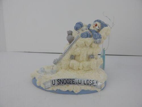 Encore Snow Buddies Grampa U Snooze U Lose Figurine #94471 Very Good Condition