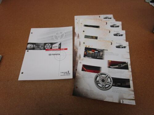 2003 Toyota TACOMA dealer album booklet SHEETS sales brochure with accessories
