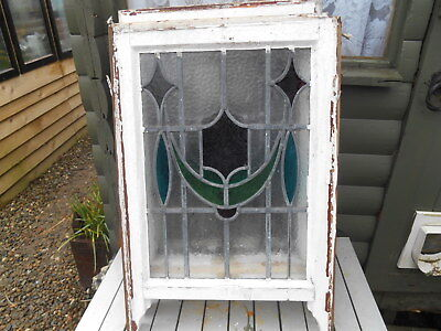 Art Nouveau Cottage Stained Glass Sash Window Panel Interior Design Restoration