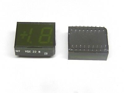 Vqe 22b 7-segment Green Led Display Rft New Lot Of 2pcs