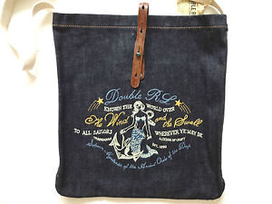 Ralph-Lauren-RRL-Navy-Blue-Mermaid-Stitching-Summer-Tote-Bag