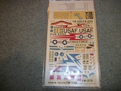Vintage Model Power E.S.C.I. Decal 1/72 scale F-100 Super Sabre decals