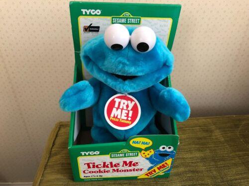 TYCO Tickle Me COOKIE MONSTER Sesame Street NIB 1996