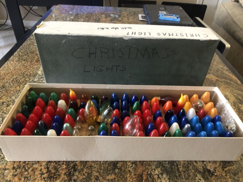 "Grandpas Vintage 2"" Christmas Lights Bulbs Collection Multicolor 108 Pieces"