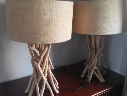 Tree desk lamps x2