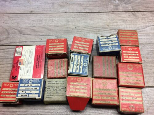 """LOT OF ASSORTED THREADING DIES 1"""" STYLE DIE HEAD CHASERS GEOMETRIC"""