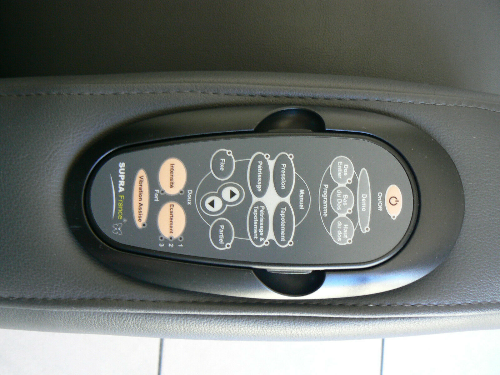 Fauteuil électrique de massage, supra sp 9300 gris