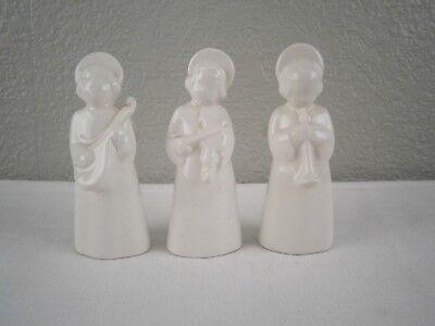 Set of 3 Royal Copenhagen Denmark White Porcelain Angel Musicians