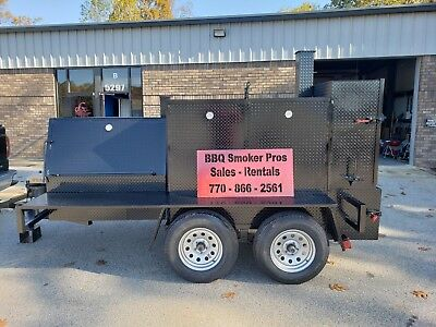 Bigfoot Bbq Smoker Grill Trailer Sink Ramp Food Truck Mobile Catering Concession