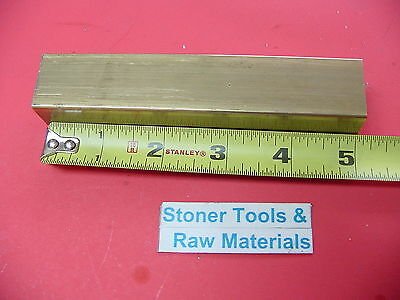 1 X 1 C360 Brass Square Bar 5 Long Solid 1.00 Flat Mill Stock H02