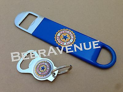 Newcastle Brown Ale bartender beer bottle cap speed - keychain opener set NEW