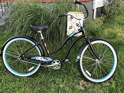 Trek Ladies Classic Beach Cruiser Bike With 17 Inch Frame 26 Inch Wheels Black