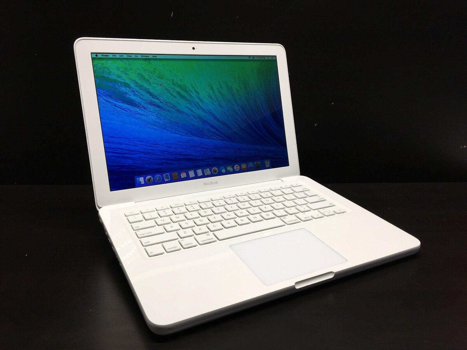 "Apple MacBook Mac Laptop Computer 13"" White Unibody / OSX-2018 / 3 Year Warranty"