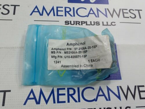 AMPHENOL 97-3106A-20-15P CIRCULAR CONNECTOR 7 PIN