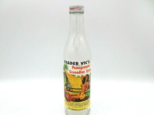 Vintage Empty Glass Bottle Trader Vic
