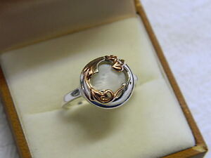 Clogau Silver & Welsh Gold Tudor Court Ring size Q RRP £159.00