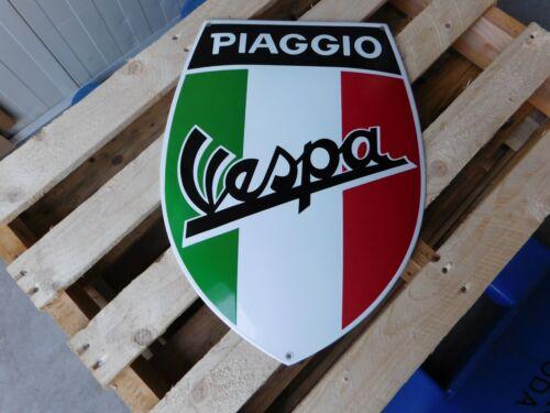 VESPA Garage Dealership European Quality Porcelain Enamel Italy Flag Color Sign