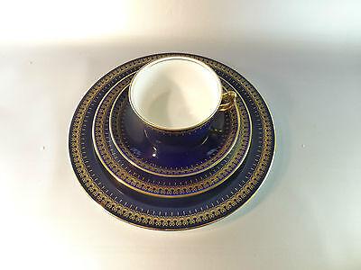 Kobalt blau: Romanov genuine cobalt - 4 teiliges Gedeck - Kaffeetasse, Teller...