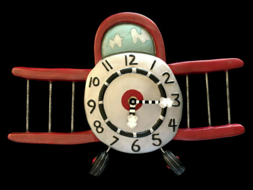 Whimsical Airplane Allen Design Clock