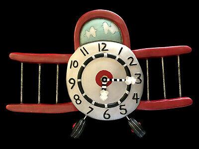 Whimsical Airplane Allen Design Clock
