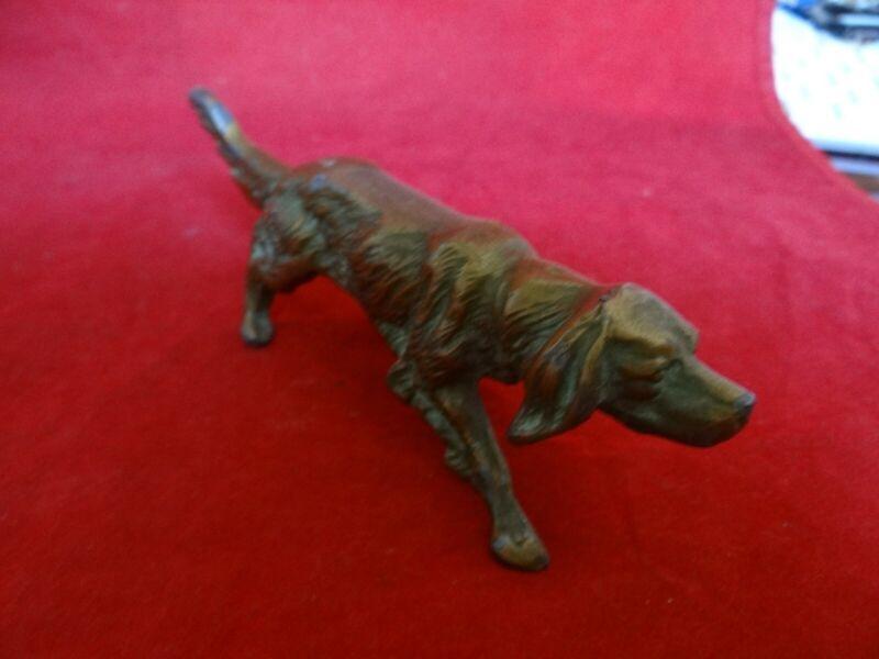 Original Bronze Setter Hunting Dog Figurine