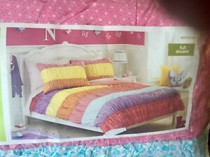 Girls Double/Queen Comforter Set With Shams