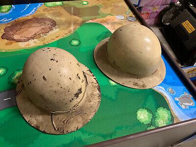 2 1940s Vintage Msa Skullgard Miners Safety Helmet Hard Hat Pgh Pa Nice