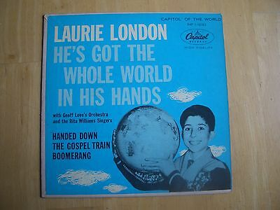 LAURIE LONDON ~ HE'S GOT THE WHOLE WORLD IN HIS HANDS ~ 45 RPM  EP RECORD  ~1958